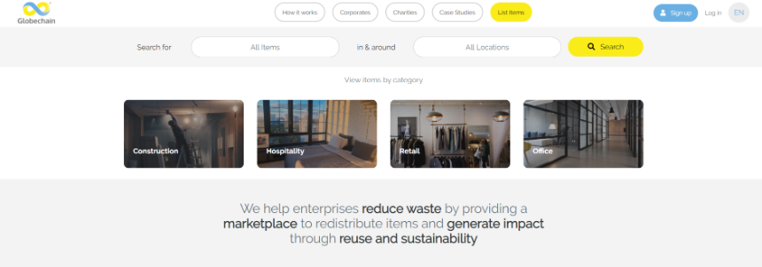 Globechain The Reuse Marketplace